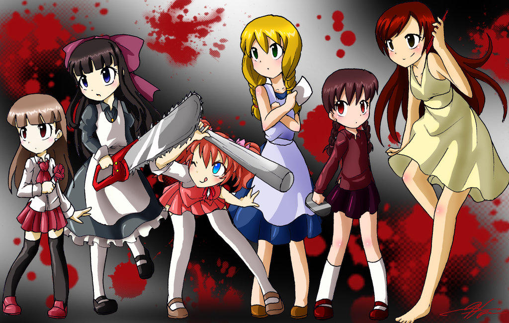 Collage-RPG Horror Girls by Monsethehedgehog on DeviantArt