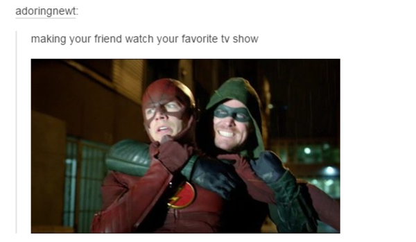 Making your friend watch your favorite tv show tumblr - Your favorite show ...