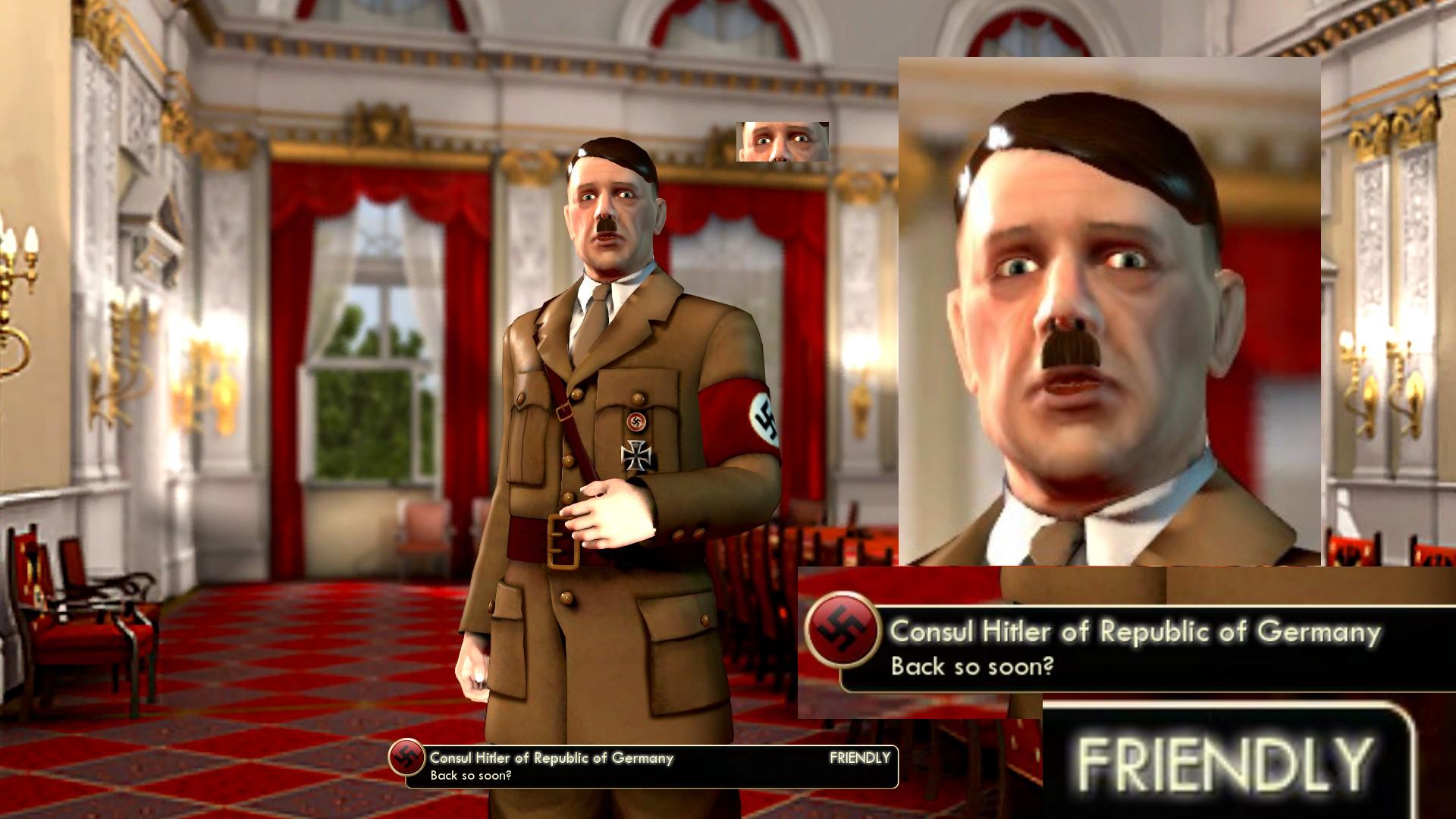 """Friendly"" Hitler is okay | Adolf Hitler | Know Your Meme"