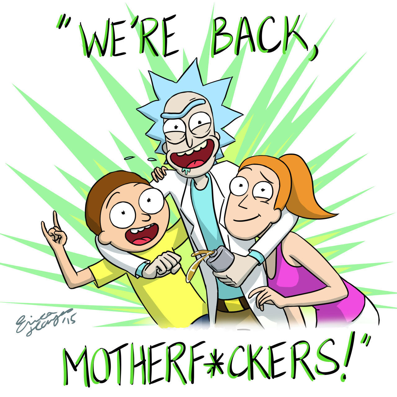 We're Back! | Rick and... Spongebob Excited Face