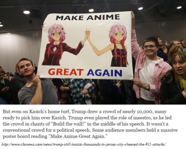 foto de Trump will make anime great again #TrumpAnime / Rick
