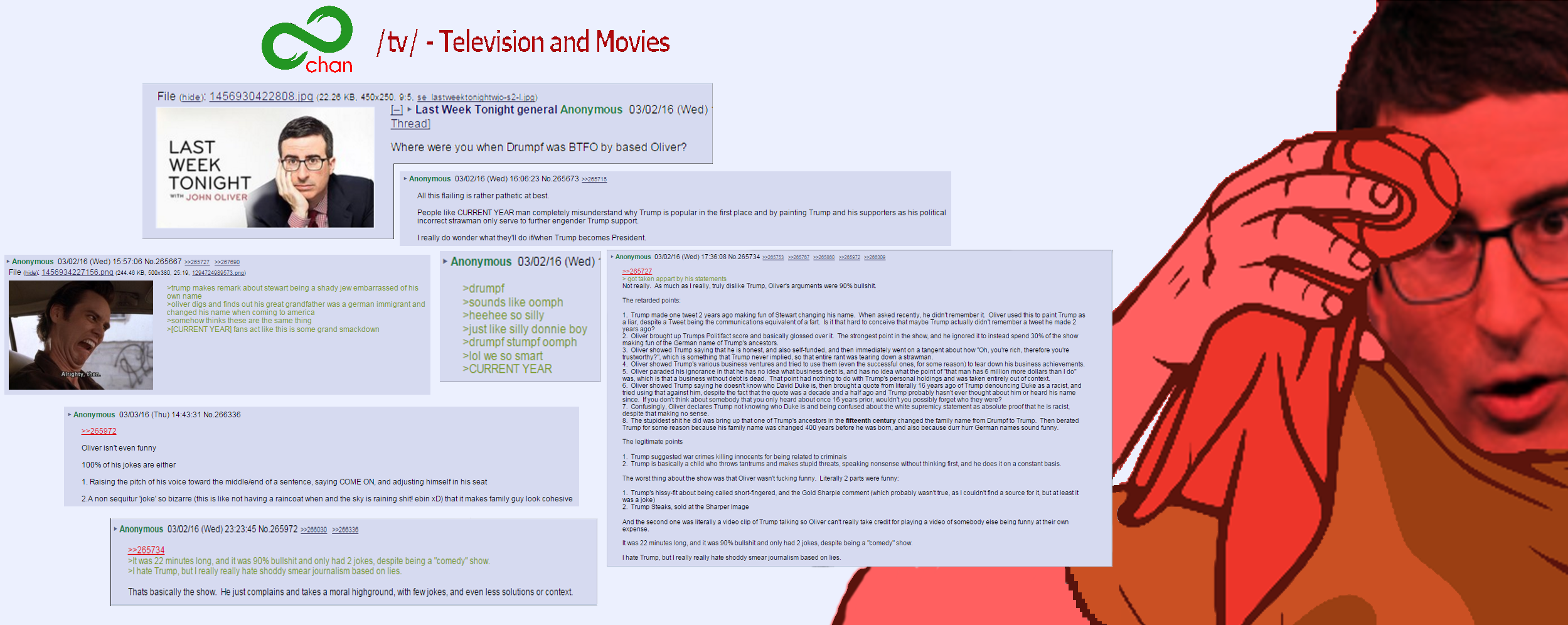 8chan Picture: 8chan /tv/ Thread On LWT Episode