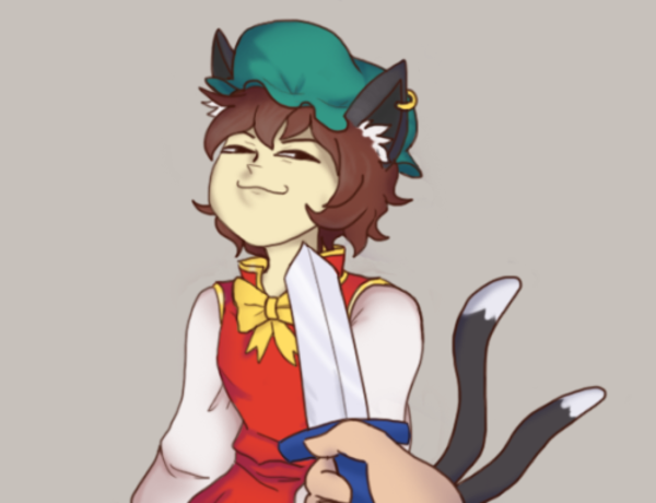 Chen Knife Cat Drawing | Smug Knife Cat | Know Your Meme