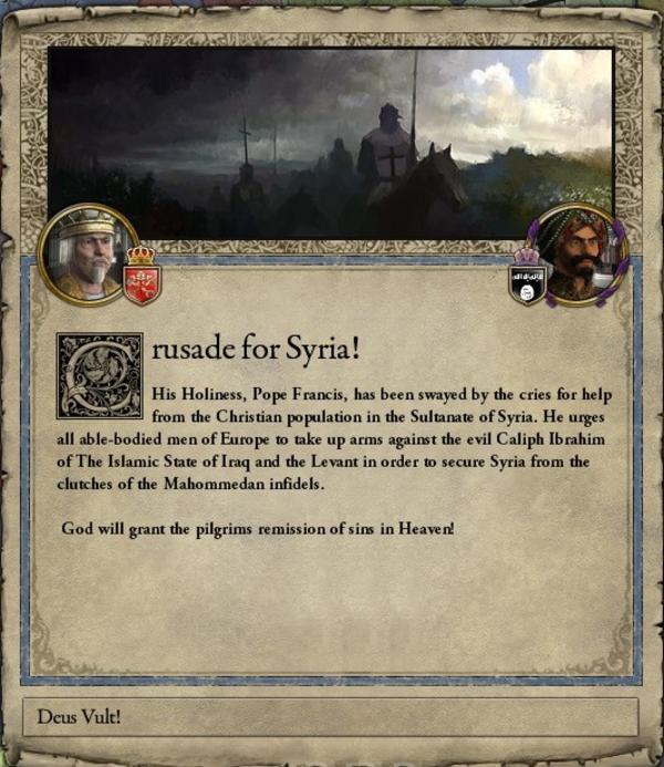 Crusader Kings Ii Pop Up Deus Vult Know Your Meme