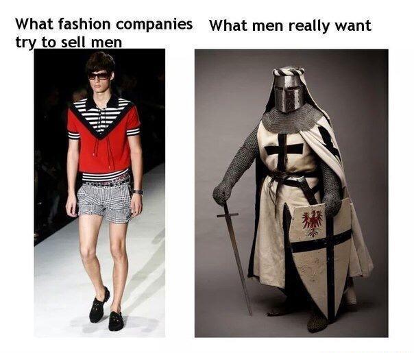 Men 39 S Fashion Deus Vult Know Your Meme