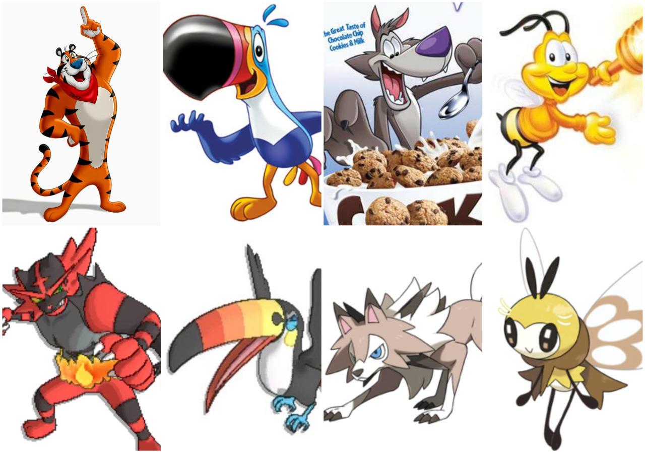 Pokemon Vs Cereal Mascots Pok 233 Mon Sun And Moon Know