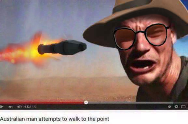 Australian Man Attempts To Walk To The Point