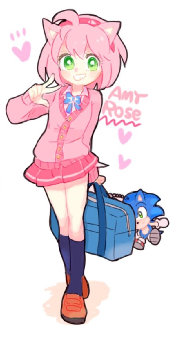 School Girl Amy Sonic The Hedgehog Know Your Meme