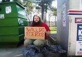 bums with funny signs