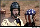 Sad Keanu in a Helmet