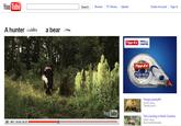 A hunter shoots a bear!