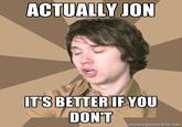 Bells, Jon / Actually, Jon
