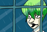 Season 0 Kaiba Staring At the Rain Through a Window