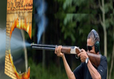 Obama Skeet Shooting Photo