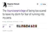 #SurvivorPrivilege