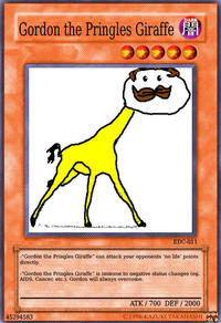 Gordon the Pringles Giraffe