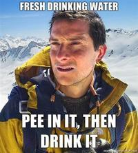 Fresh-drinking-water-pee-in-it-then-drink-it