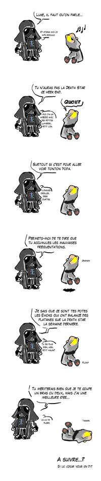 """Luke, je suis ton père"" cartoon parodies"