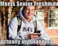 Senior College Student
