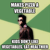 Pizza is a Vegetable