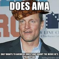 Woody Harrelson Reddit AMA