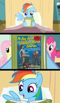 Rainbow Dash Reads a(n) X Book
