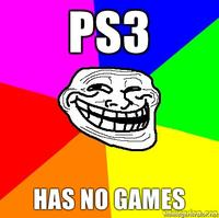 PS3 Has No Games