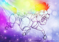 Robot Unicorn Attack / Harmony Harmony