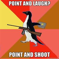 Socially Fed Up Penguin