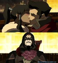 Crying Bolin / Kissing Korra