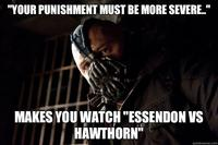 Your Punishment Must Be More Severe