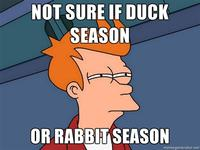 Rabbit Season! Duck Season! (X Season! Y Season!)