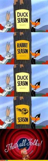 Rabbit Season! Duck Season! (X Season! Y Season!)
