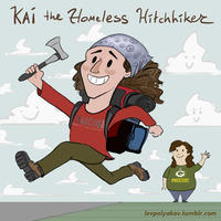 Kai the Hatchet-Wielding Hitchhiker