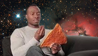 Dashing Black Man Holding Dangerously Large Dorito Chip