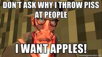 Sniper wants apples