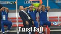 Alejandro Sabella's Falling Reaction