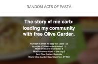 Random Acts of Pasta