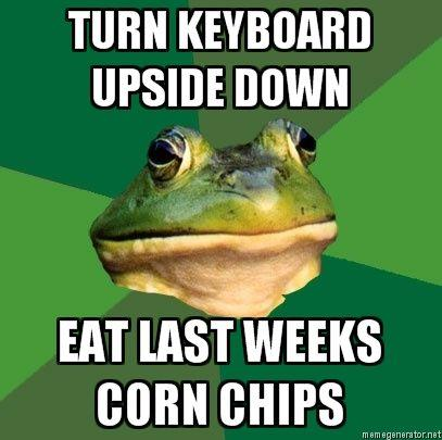 Foul-Bachelor-Frog-TURN-KEYBOARD-UPSIDE-DOWN-EAT-LAST-WEEKS-CORN-CHIPS.jpg