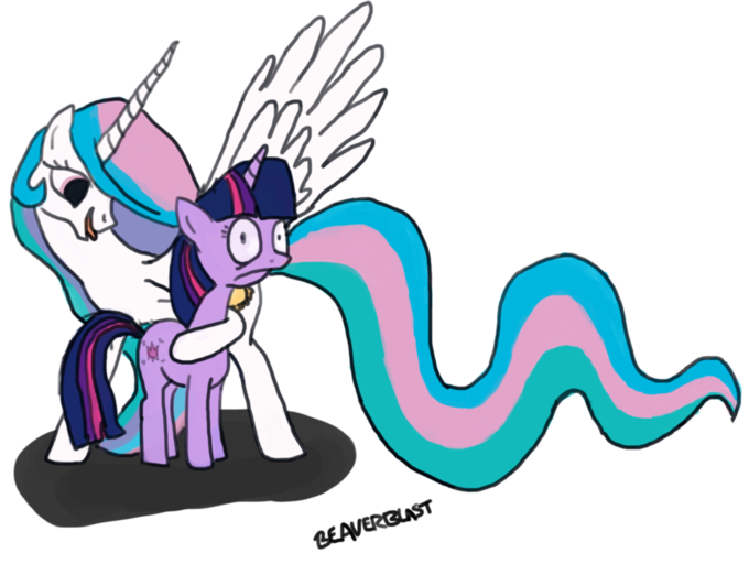 twiglith_and_celestia_by_beaverblast-d3kxxd9.png