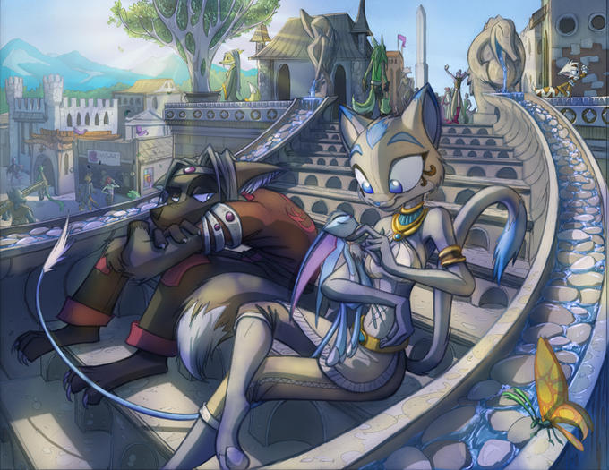 Makoto_and_Sapphire_City_Stair_by_Dreamkeepers.jpg