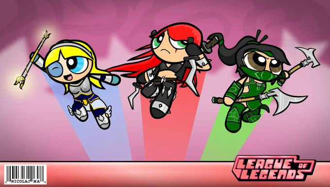 LoL Power Puff Girls spoof