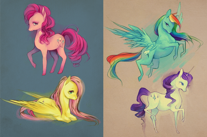 sketches_11_2_11__ponies__by_faelicia-d4ewu6e.png