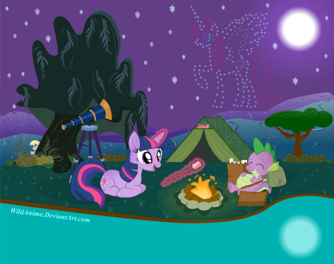 twilight_sparkle__s_stargazing_campout_by_wildanime-d4hbp1b.png