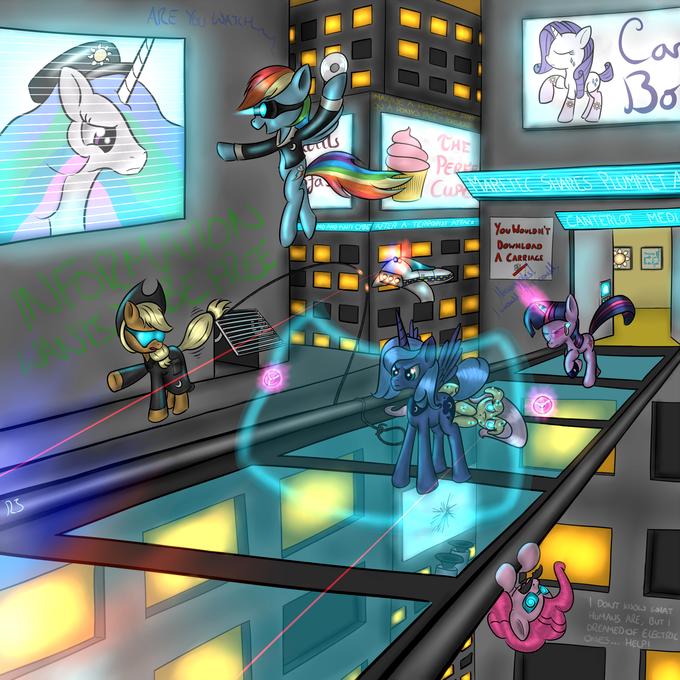 Cyberpunk Ponies