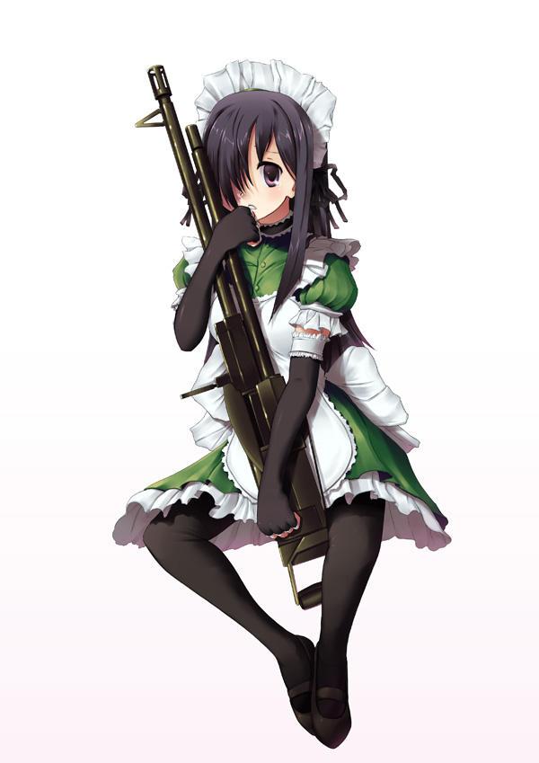 Hanako with an LMG, by Doomfest