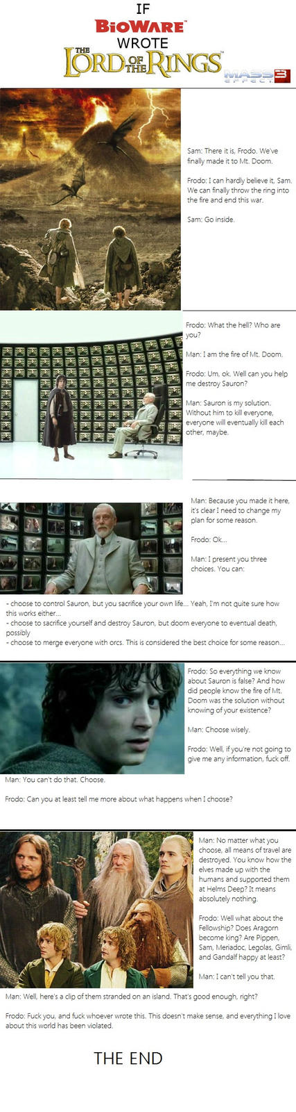 If BioWare Wrote the LOTR Ending...