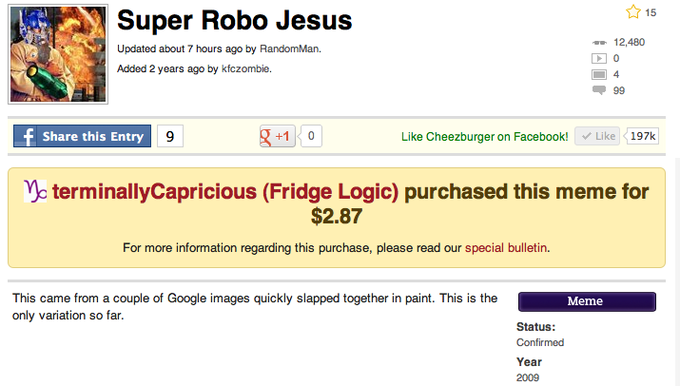 Super Robo Jesus gets Confirmed