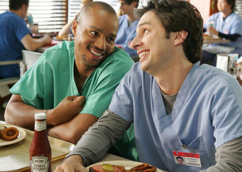 JD and Turk from Scrubs