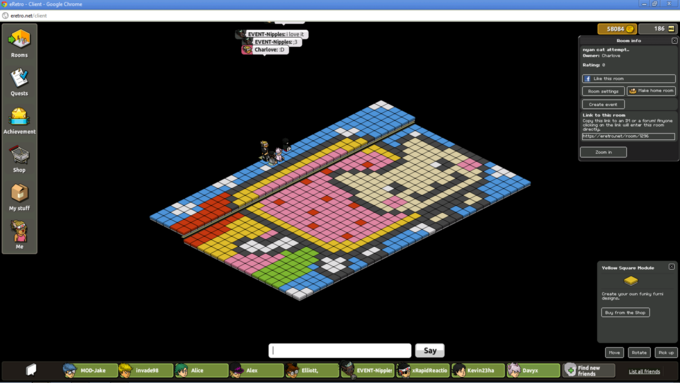 Nyan Cat in Habbo